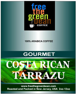 Costa Rican Tarrazu Dark Roasted Coffee Bean