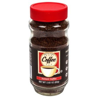 Instant Coffee, 2.82-oz. Jars carried on the shelves of Dollar Tree Stores.